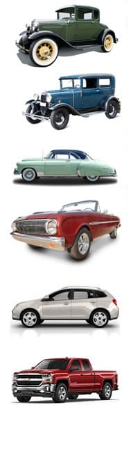 Cars - Historical Progression from beginning to present