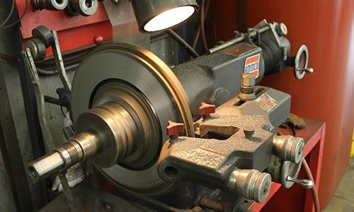 Turning Brake Rotor